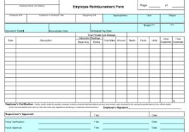 employee expense reimbursement form template and expense