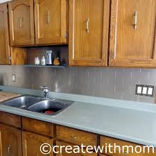 Create With Mom Our Kitchen Renovation DIY Project Using Aspect Metal - Aspect backsplash tiles