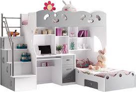 solde chambre enfant soldes chambre enfant lit multifonction 2 places gris et blanc