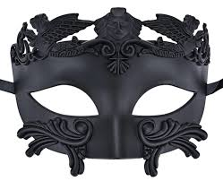 amazon com coxeer mens masquerade mask greek party mask black