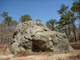how did this boulder get to cape cod rock paper glacier