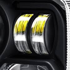 mercedes led headlights lumen sb7655hl blk 7x6
