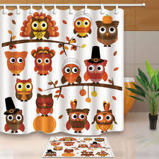 thanksgiving shower curtain ebay