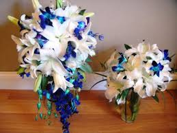 Orchid Centerpieces Picture Of A Prototype Of Our Blue Orchid Centerpieces Weddingbee