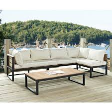 Modern Outdoor Dining Set by 4 Piece Modern Outdoor Patio Furniture Set With Cushions