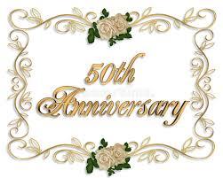 fiftieth anniversary 50th anniversary invitation stock illustration illustration of