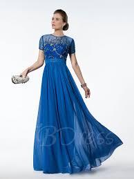 a line beading short sleeves floor length prom dress tbdress com