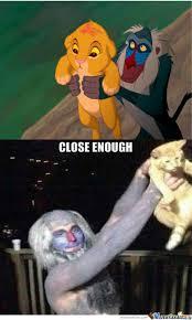 Rafiki Meme - close enough rafiki simba by recyclebin meme center