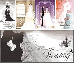 wedding cards for and groom and groom wedding invitations vector vector graphics