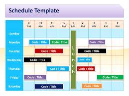 schedule template for powerpoint pptx powerpoint presentation ppt
