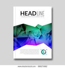 cover report colorful triangle geometric prospectus stock vector