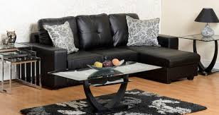 Leather Sofa Cushions Excellent Black Leather Sofa Archives Rjf Furnishings With Regard