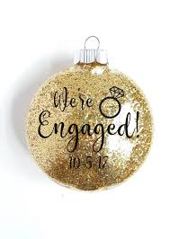 we re engaged ornament personalized brides