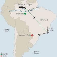 Amazon Rainforest Map Brazilian Amazon U0026 Rio De Janeiro Tours Globus Travel