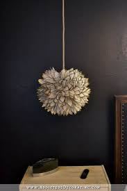 Capiz Light Pendant Diy Faux Capiz Shell Flower Pendant Light