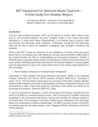 European Ippc Bureau European Commission Bat Assessment For Optimized Waste Pdf Available