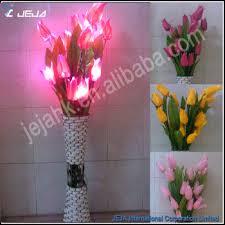 home decor flower stand light blue flowers led dmx moon flower