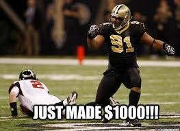Funny Saints Memes - just made 1000 saints bounty quickmeme