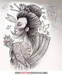 best tattoo design anime geisha tattoo design art tattoo designs