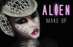 alien halloween make up youtube