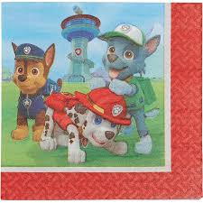paw patrol lunch napkins 16 count party supplies walmart
