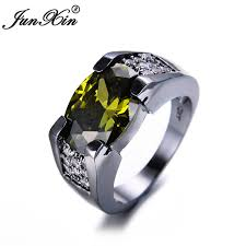 aliexpress buy junxin new arrival black junxin gorgeous peridot oval ring 2017 new fashion men ring
