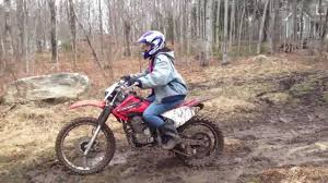 motocross biking my girlfriend riding a dirt bike for the first time youtube