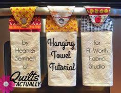 kitchen towel craft ideas kitchen towel what you need dish towel coordinating fabric