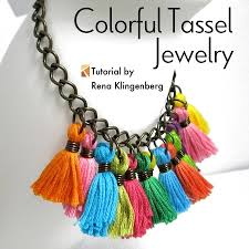 tassel pendant necklace images Colorful tassel jewelry tutorial jewelry making journal jpg