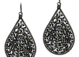 Black And Silver Chandelier Earrings Black Crystal Chandelier Earrings For Weddings And Prom Affordable