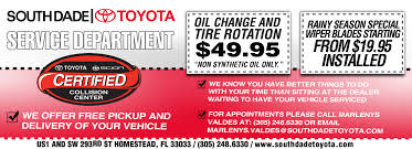toyota us1 oil change south dade toyota