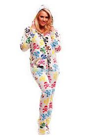 silly skulls hooded footed pajamas pajamas footie pjs onesies