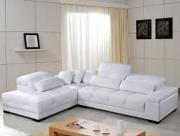 Leather Sectional Sofas Sale Applying Modern White Leather Sectional For Your Living Room