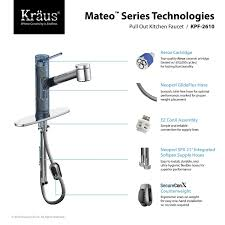 mateo pull out kitchen faucet kpf 2610 by kraus yliving