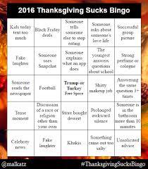 for those dreading a family thanksgiving dinner i make bingo