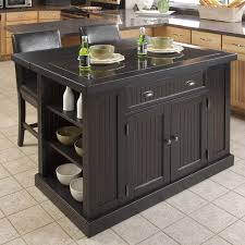 drop leaf kitchen islands home styles monarch slide out leg kitchen island with granite top