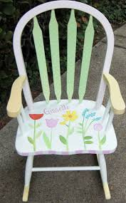Baby Furniture Rocking Chair 9 Best Hand Painted Kids Rocking Chairs Images On Pinterest Hand