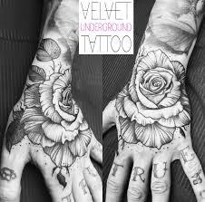 rose hand tattoo by roxy velvet at velvet underground tattoo