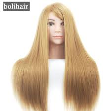 best europe mannequin head with blonde hair salon training female