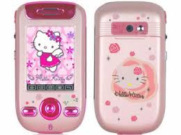 celular da kitty sony ericsson rosa cultura mix