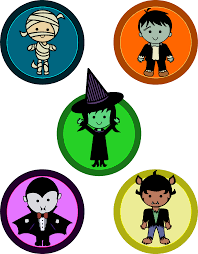 Cute Halloween Monsters by Clipart Cute Halloween Monster Badges