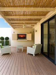 contemporary entry vestibule led lighting terrace design ideas