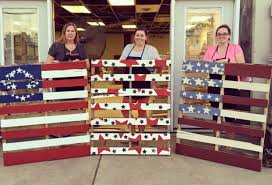 diy workshop full pallet american flag with chalk paint the