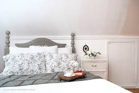 painted headboard annie sloan french linen headboard makeover salvaged inspirations
