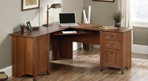 Executive Desk Solid Wood Desk Solid Wood Corner Computer Desk With Double Storage In