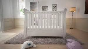 Sleigh Cot Bed White Babymore Eva Cot Assembly Youtube