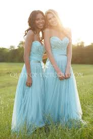 subtly lace and tulle strapless sweetheart a line long bridesmaid
