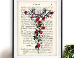 Chandelier Sign Medical Medical Art Etsy