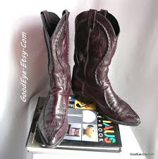 womens leather boots size 12 wide vintage dan post cowboy boots all leather mens size 10 e