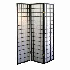 Japanese Screen Room Divider 5 83 Ft 3 Panel Room Divider R531 The Home Depot
